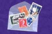 Packet of 5+ French and French Territory Postage Stamps in Glassine Envelope