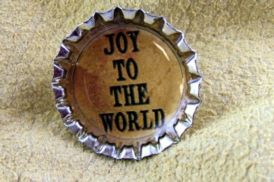 Joy to the World Bottle Cap Pin