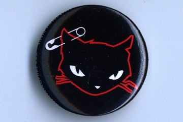 Bad Kitty Pinback Button