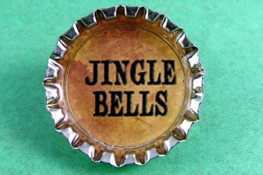 Jingle Bells Bottle Cap Pin
