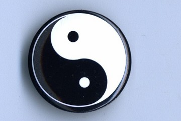 Yin Yang Pin Back Button