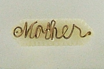 Vintage Mother of Pearl and Wrapped Wire Mother Pin