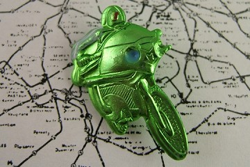 Vintage Green Motorcycle Pin