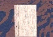 MEDIUM (4-1/8 by 5-7/8 inch Rustic Peg-Bound Recycled Paper Journal