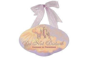 Do Not Disturb - Dreams in Progress - Wooden Plaque