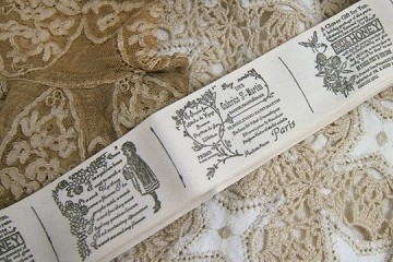 Sweet Victorian-Inspired Ribbon by the Repeat of 3 Motifs - PARIS