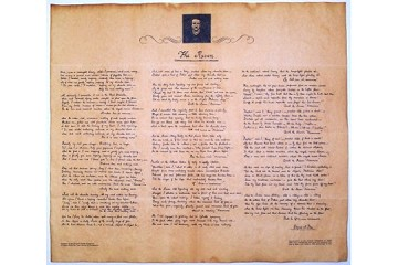 Reproduction Historical Document on Parchment - Edgar Allen Poe's The Raven