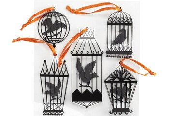 Set of Crows in Cages 3D Stickers