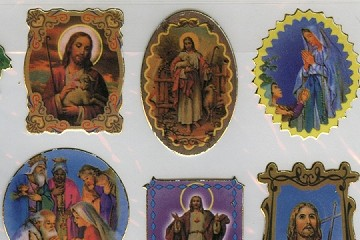 Jesus and Mary Stickers in Various Shaped Motifs