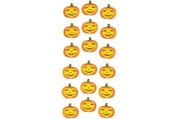 Embossed & Die-Cut Jack o' Lantern Stickers