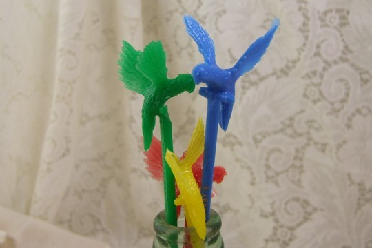 Vintage Corby's Parrot Swizzle Stick - for a Magic Drink (Assorted Colors Only)