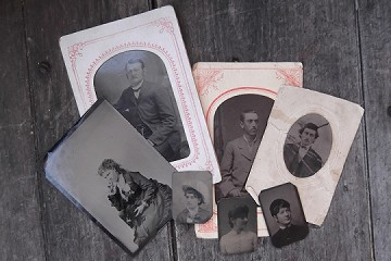 Tin Type Photographs - Price Differs Per Photo