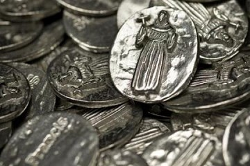 Saint Francis of Assisi Pewter Pocket Token