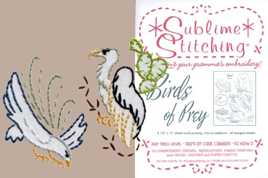 Old Fashioned Iron-On Transfers - Bird of Prey