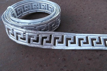 8 Feet of Greek Key Motif Aluminum Trim