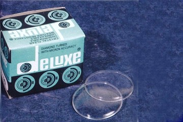 Blue Box of 10 Plastic Watch Crystals