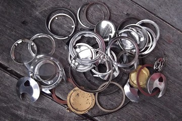 Watch Parts Collection in Plastic Jar #3