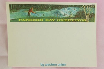 Vintage Father's Day Greetings Western Union Form